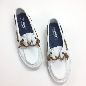 Paul Sperry Sayel Away White Boat Shoes Size 6.5 M